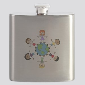 Children Around The World Flask