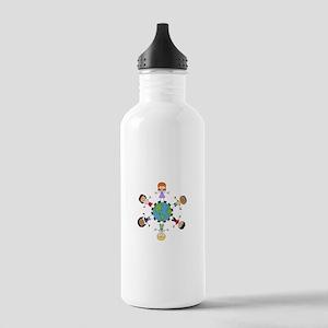 Children Around The World Water Bottle