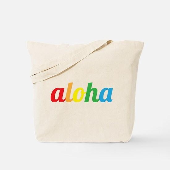 Aloha Rainbow scripr Tote Bag