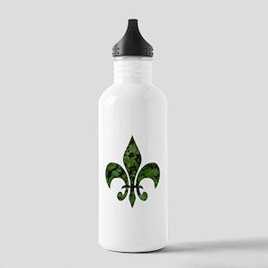 Fleur De Lis Marble Ca Stainless Water Bottle 1.0L