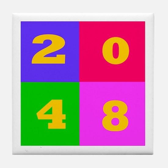 2048 Years Designs Tile Coaster
