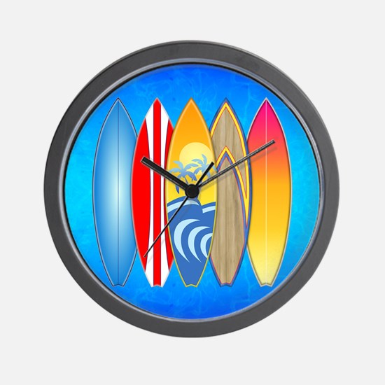 Surfboards Wall Clock