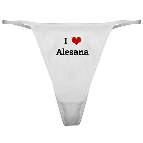 I Love Alesana Classic Thong