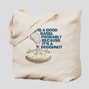 American Dad Bagel Doughnut Tote Bag