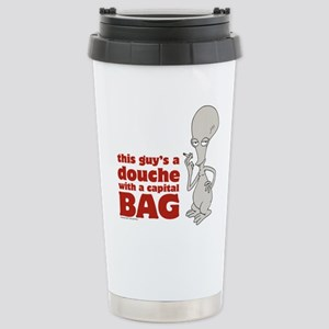american dad douche Stainless Steel Travel Mug