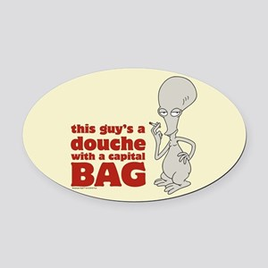 american dad douche Oval Car Magnet