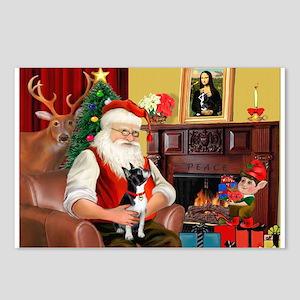 Santa's Boston Terrier Postcards (Package of 8)