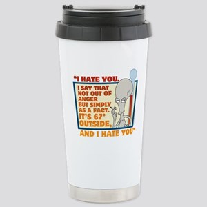 American Dad I Hate You Stainless Steel Travel Mug