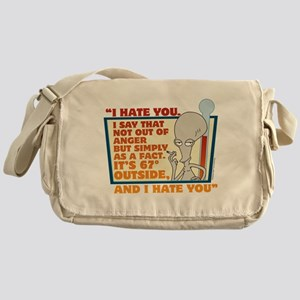 American Dad I Hate You Messenger Bag