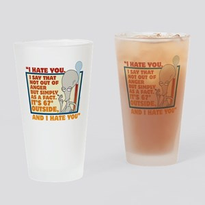 American Dad I Hate You Drinking Glass