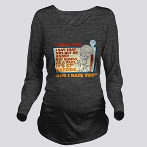 American Dad I Hate Long Sleeve Maternity T-Shirt