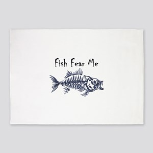 Fish Fear Me 5'x7'Area Rug