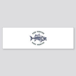 Fish Forever Bumper Sticker