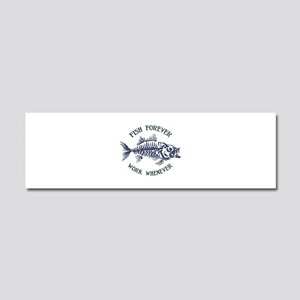 Fish Forever Car Magnet 10 x 3