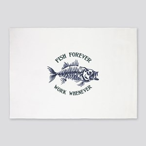 Fish Forever 5'x7'Area Rug