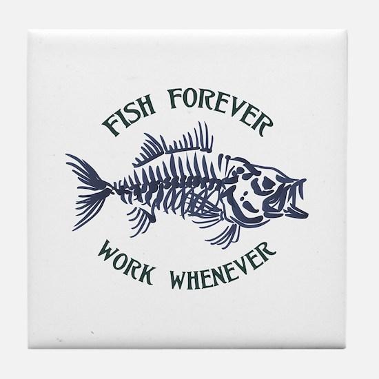Fish Forever Tile Coaster