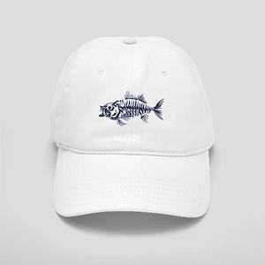 Mean Fish Skeleton Baseball Cap