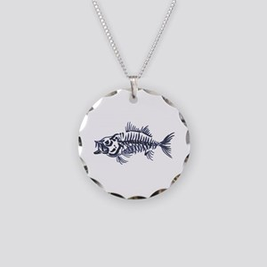 Mean Fish Skeleton Necklace