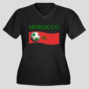 TEAM MOROCCO WORLD CUP Women's Plus Size V-Neck Da