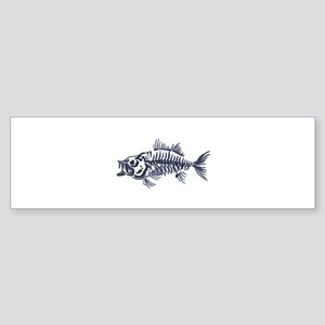 Mean Fish Skeleton Bumper Sticker