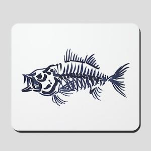 Mean Fish Skeleton Mousepad