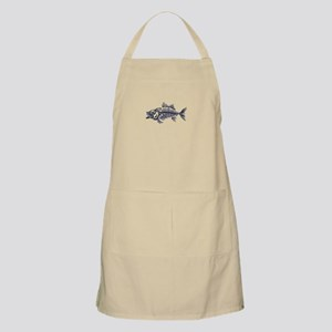 Mean Fish Skeleton Apron