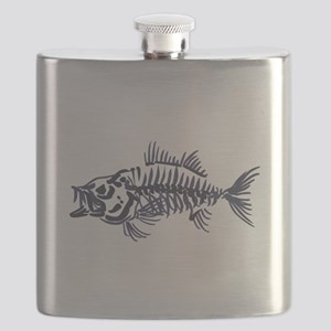 Mean Fish Skeleton Flask