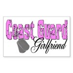 Coast Guard Girlfriend Rectangle Sticker