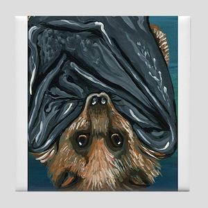 Hanging Bat Tile Coaster