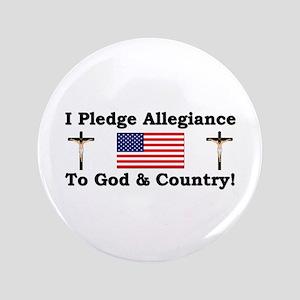 """""""I Pledge Allegiance"""" 3.5"""" Button"""
