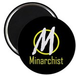"""Minarchist 2.25"""" Magnet (10 pack)"""