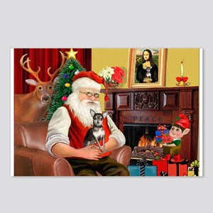 Santa's Chih (b&t) Postcards (Package of 8)