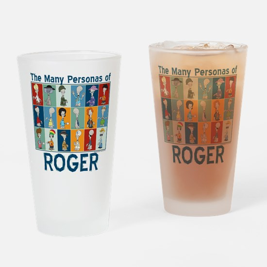 American Dad Roger Personas Drinking Glass