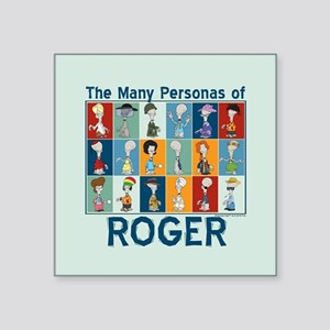 "American Dad Roger Personas Square Sticker 3"" x 3"""