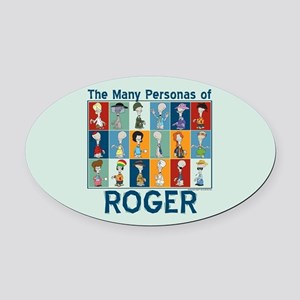 American Dad Roger Personas Oval Car Magnet