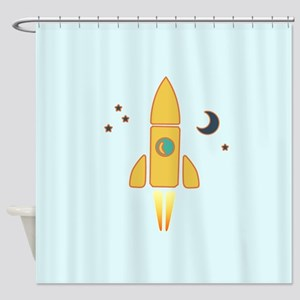 Spaceship Shower Curtain