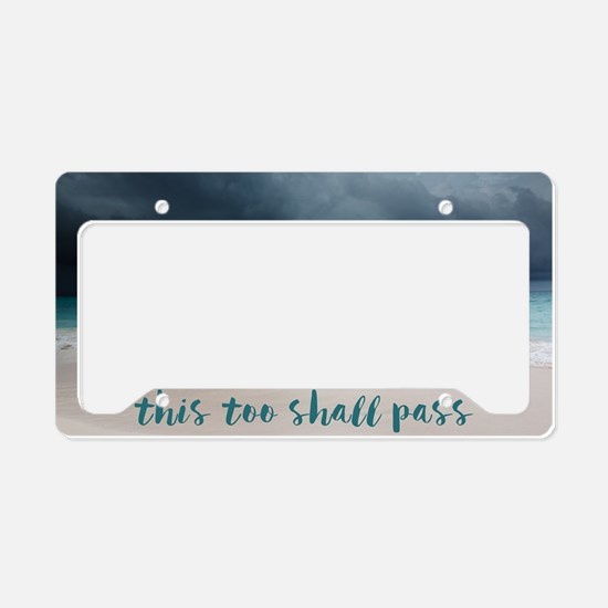 Cute Words License Plate Holder