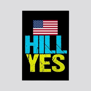 Hill Yes Rectangle Magnet