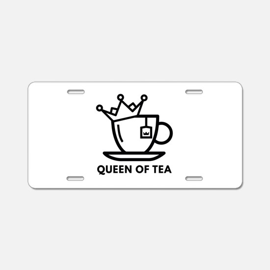 Queen Of Tea Aluminum License Plate