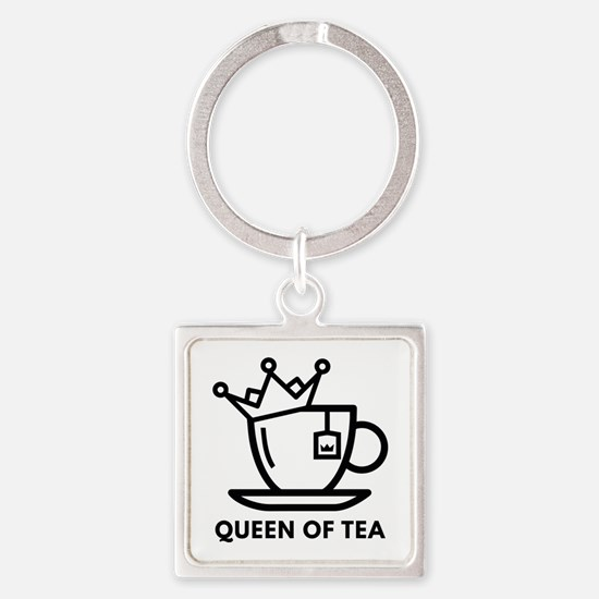 Queen Of Tea Square Keychain