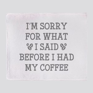 Before I Had My Coffee Stadium Blanket
