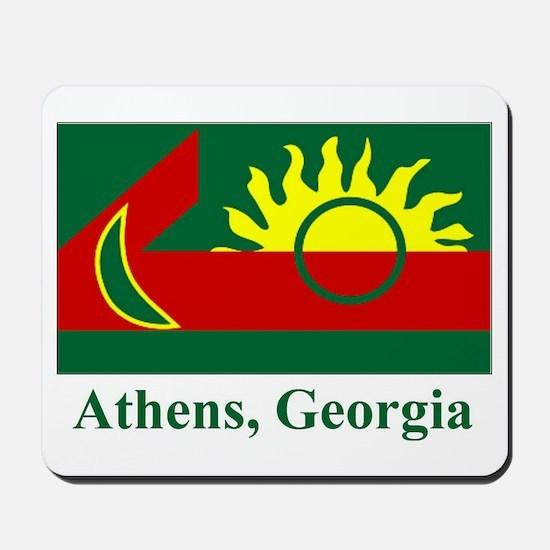 Athens GA Flag Mousepad