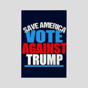 Vote Against Trump Rectangle Magnet
