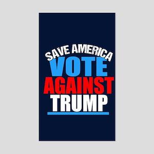 Vote Against Trump Sticker (Rectangle)