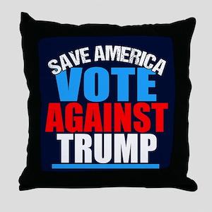 Vote Against Trump Throw Pillow
