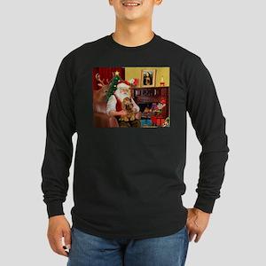 Santa's Cocker (bn) Long Sleeve Dark T-Shirt