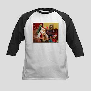 Santa's Cocker (bn) Kids Baseball Jersey