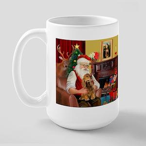 Santa's Cocker (bn) Large Mug