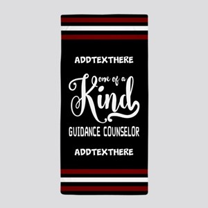 Personalized Gift for Guidance Counsel Beach Towel