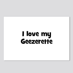 I love my Geezerette Postcards (Package of 8)